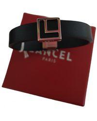 Lancel Leather Bracelet - Black