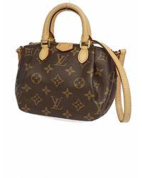 Louis Vuitton Bolsa de mano en cuero marrón Turenne