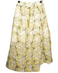 Maje Mid-length Skirt - Yellow