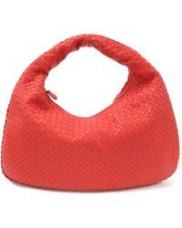 Bottega Veneta Veneta Orange Leather Handbag