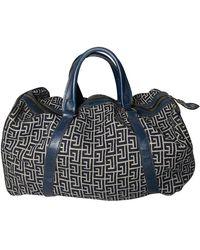 Balmain Cloth Bowling Bag - Blue