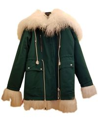 CALVIN KLEIN 205W39NYC Green Shearling Coats