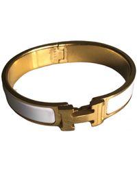 Hermès Clic H Armbänder - Weiß