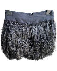Celine Ostrich Mini Skirt - Black