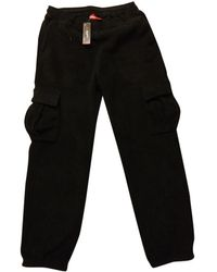 Supreme Black Synthetic Trousers