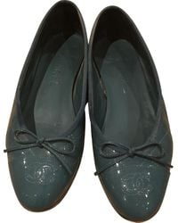 Chanel Turquoise Patent Leather Ballet Flats - Multicolour