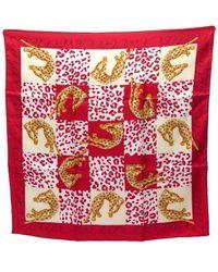 Cartier Pañuelos en seda rojo