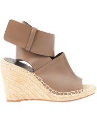Céline - Brown Leather Espadrilles - Lyst