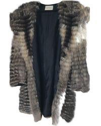 Yves Salomon Fox Coat - Metallic