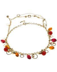 Versace - Multicolour Metal Necklace - Lyst