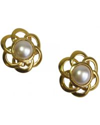Chanel - Pre-owned Camélia Earrings - Lyst