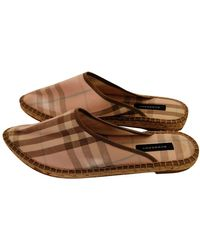 Burberry Cloth Mules & Clogs - Pink