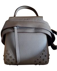 Tod's Leather Backpack - Natural