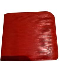 Louis Vuitton Red Leather Wallet