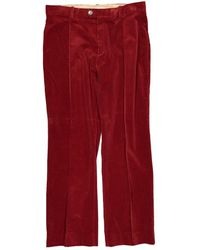 Chloé Burgundy Cotton Trousers - Red