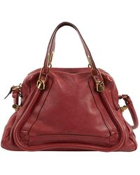 Chloé Paraty Leder Handtaschen - Rot