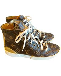 Louis Vuitton Sneakers Stellar in Tela - Marrone