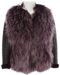 Miu Miu Purple Shearling Jacket