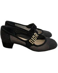 Dior Baby-d Black Polyester Ballet Flats