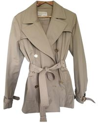 Michael Kors Beige Cotton Trench Coats - Natural