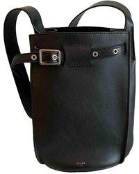 Céline Seau Sangle Black Leather Handbag
