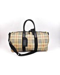 Burberry \n Black Leather Travel Bag