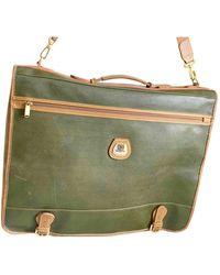 Lancel Leather Travel Bag - Green
