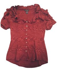 Zac Posen Silk Blouse - Red