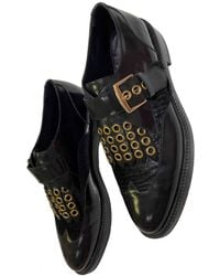 Burberry Leather Lace Ups - Black