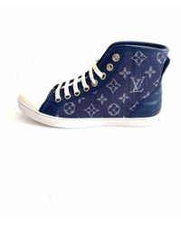 Louis Vuitton Stellar Leinen Sneakers - Blau