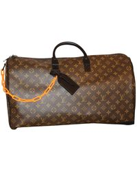 Louis Vuitton Keepall Leinen Taschen - Braun