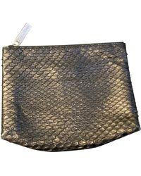 CALVIN KLEIN 205W39NYC Vintage Black Python Clutch Bag