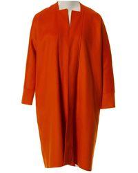 Maison Rabih Kayrouz Orange Wool Coat