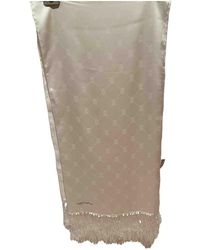 Cartier Estola de Seda - Blanco