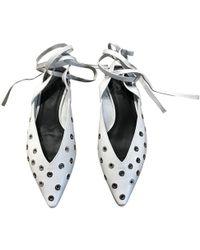 Sandro - Leather Ballet Flats - Lyst