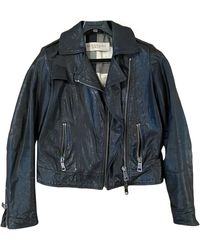 Burberry Leather Jacket - Black