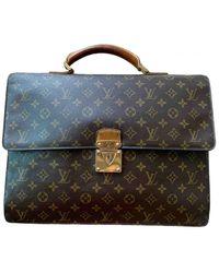 Louis Vuitton Laguito Cloth Satchel - Natural
