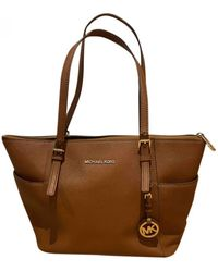 Michael Kors Jet Set Leather Tote - Brown