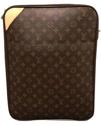 Louis Vuitton Sac Pegase en Toile Marron