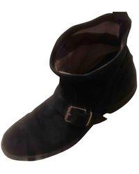 Burberry Mocassin Boots - Black