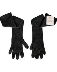 Brunello Cucinelli Cashmere Long Gloves - Multicolor