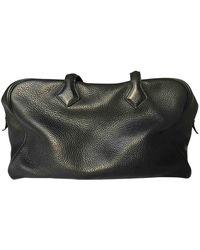 Hermès Victoria Leather Handbag - Black