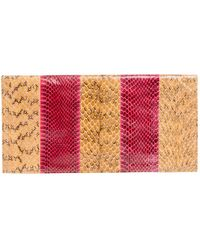 Nina Ricci Beige Leather Clutch Bag - Natural
