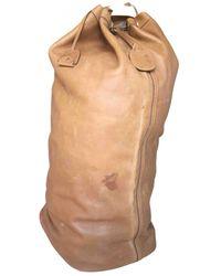 Ferragamo Leather Travel Bag - Natural