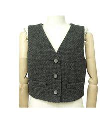 Chanel Vest en Tweed Gris