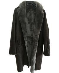 JOSEPH Shearling Coat - Brown