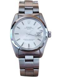 Rolex Orologio in acciaio argentato Oyster Perpetual 34mm - Multicolore