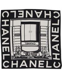 Chanel Sciarpa in seta nero