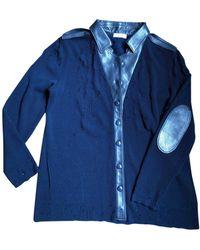 Nina Ricci Cardi Coat - Blue