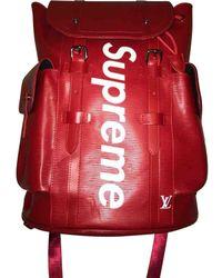 Louis Vuitton Borsa in pelle rosso